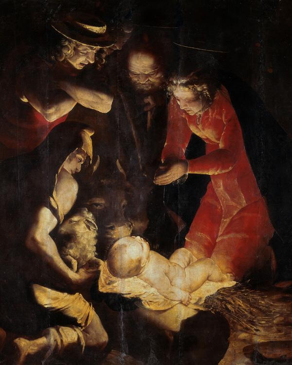 Luca Cambiaso, Adorazione dei pastori (1550 circa), olio su tavola. Milano, Pinacoteca di Brera (Scala).
